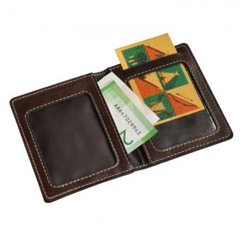 Чехол для карточек из натуральной кожи