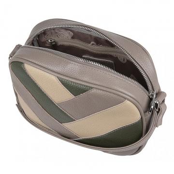 женская кожаная сумка через плечо полосками