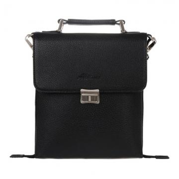 мужская сумка через плечо с портфельным замком