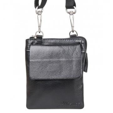 маленькая мужская сумка через плечо или на ремень