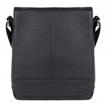 мужская сумка через плечо с клапаном кожаная