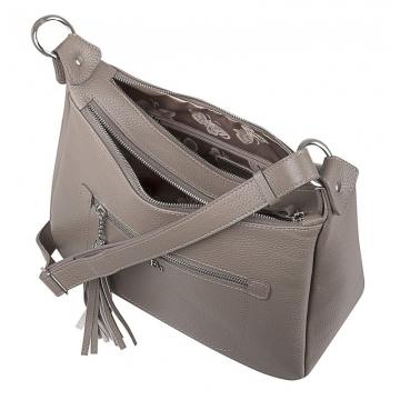сумка женская из натуральной кожи (капучино)