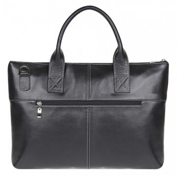 сумка мужская для документов из гладкой кожи