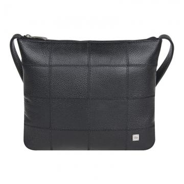 сумка женская из натуральной кожи через плечо (черная)