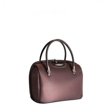 бьюти кейс на чемодан (коричневый)