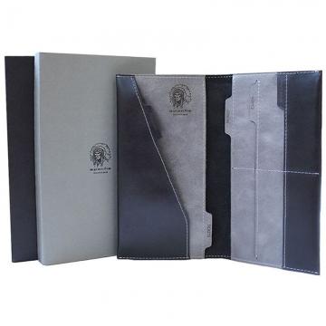 дорожное портмоне (черное с серым)