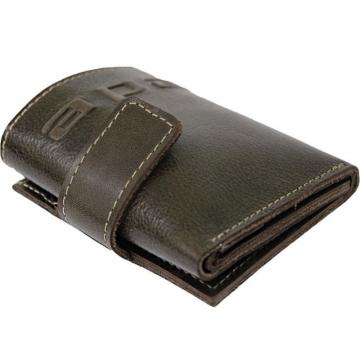маленький кожаный кошелек без монетника (коричневый)
