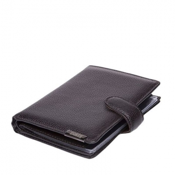 мужское портмоне с автодокументами и паспортом (коричневое)