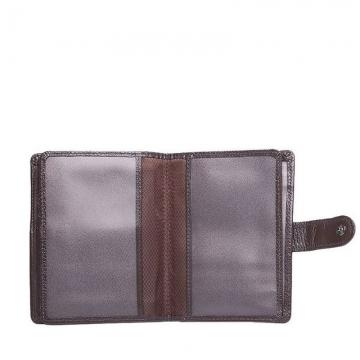 мужское портмоне с отделением для паспорта кожаное (коричневое)