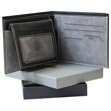 мужской кожаный кошелек без монетника съемная визитница
