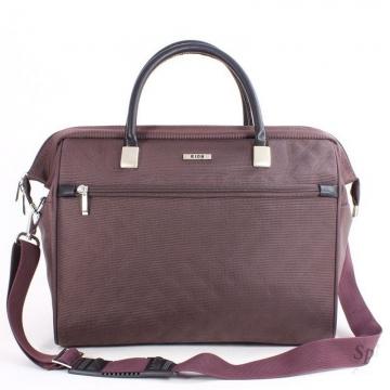 сумка-саквояж 233 коричневая