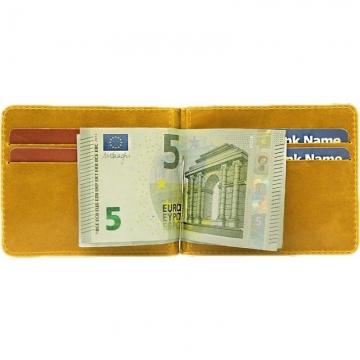 зажим для денег с кармашками для карт (желтый)