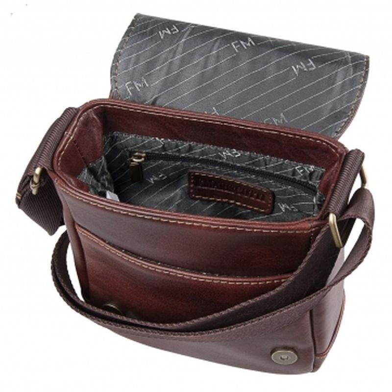 мужская сумка через плечо кожаная 2-382кFM2 кор