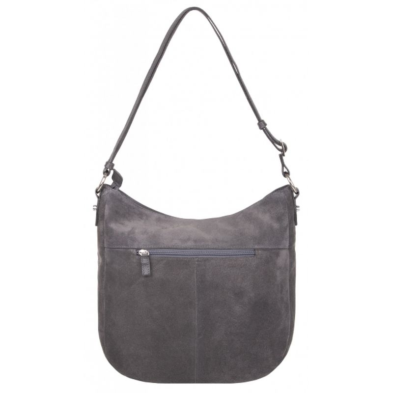 сумка женская замшевая 1-4093к замша серый