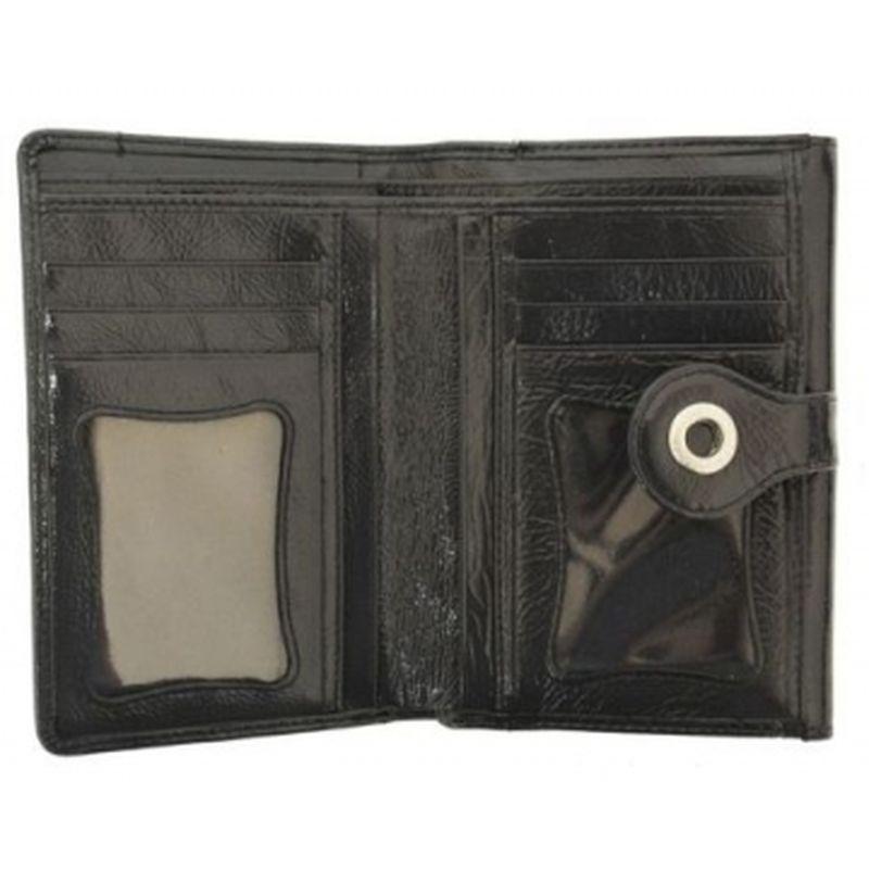 женский кожаный кошелёк 0-321С нл серый