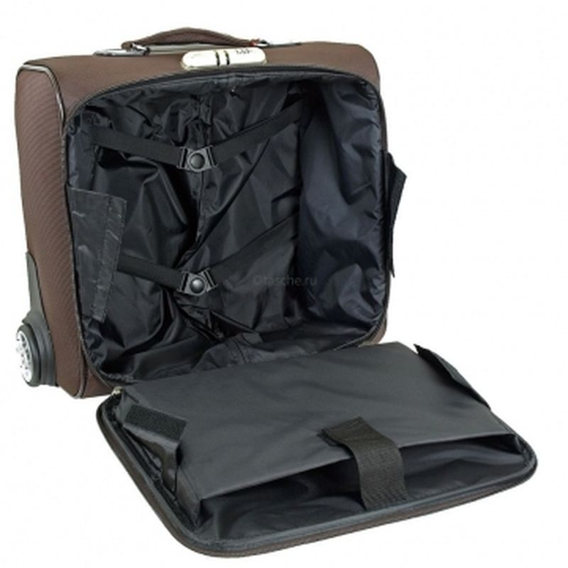 чемодан ручная кладь 423 коричневый
