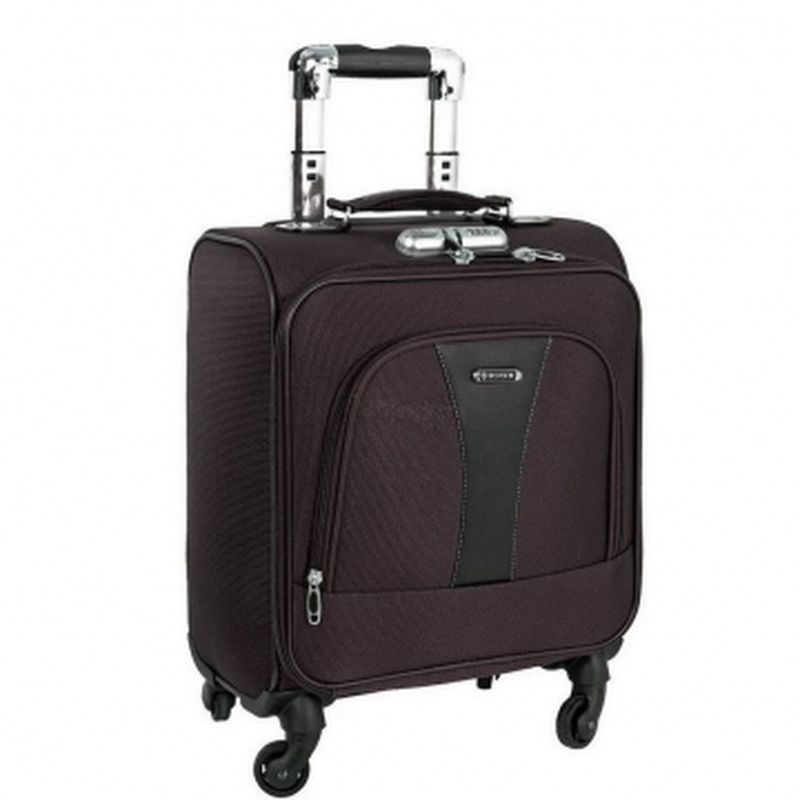 чемодан ручная кладь 433 коричневый