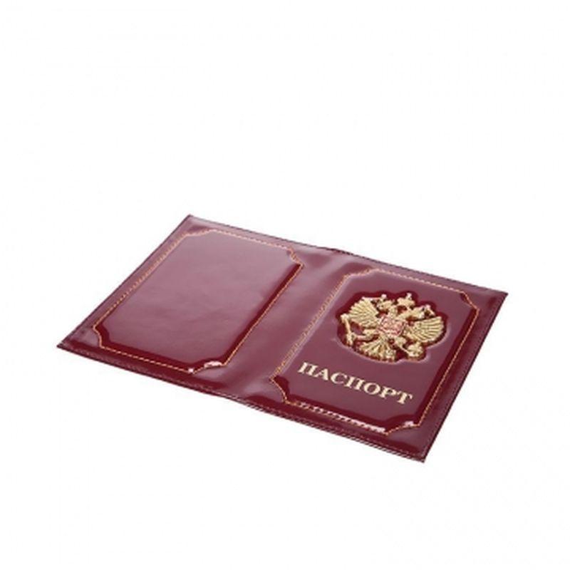 обложка паспорта с гербом бордовая