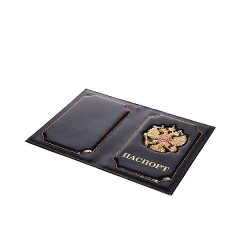 обложка паспорта с гербом черная