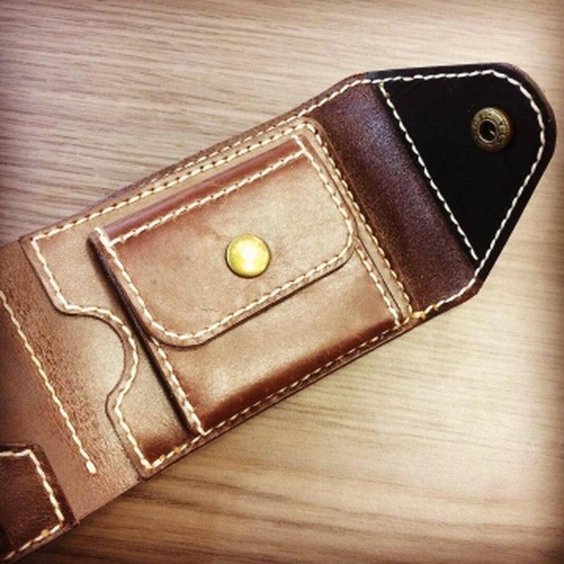 мужской кошелек ручной работы с монетником вт-02