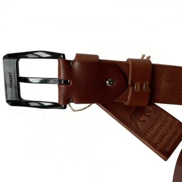широкий ремень из натуральной кожи буйвола (светло-коричневый)