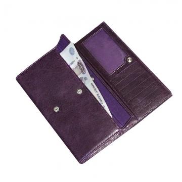 Женский кошелек с кристаллами SWAROVSKI Мэри (фиолетовый)