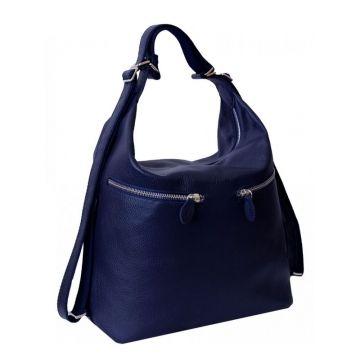сумка-рюкзак лада из натуральной кожи (синяя) Лада синяя