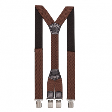 Подтяжки длинные ширина 4см коричневые