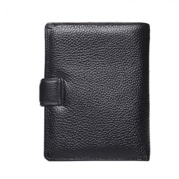 мужское портмоне с автодокументами из черной фактурной кожи