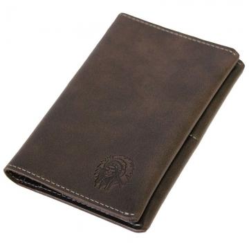 обложка для паспорта из натуральной кожи (коричневая)