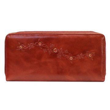 женский кошелек на молнии с кристаллами swarovski (красный)