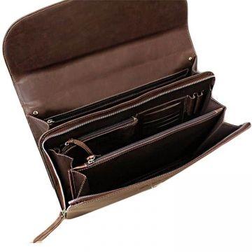 портфель деловой из натуральной кожи (коричневый)