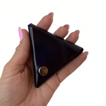 Треугольный кошелек для монет (тёмно-синий)