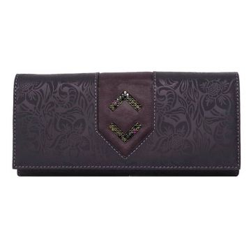женский кошелек из натуральной кожи (фиолетовый) ВП-17 LANCETTA